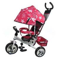 Трехколесный велосипед M 0448-3 Profi Trike (розово-серый) (М 5363-3-1)