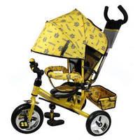 Трехколесный велосипед M 0448-4 Profi Trike (желтый) (5363-4)