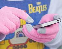 Тепленькие сенсорные перчатки (Розовые), фото 1