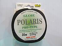 Леска рыболовная 0,25мм Globe Polaris 30м