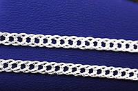 Серебряная цепочка плетение двойной ромб, 40 см
