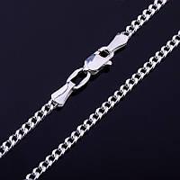 Серебряная цепочка панцирное плетение, 40 см