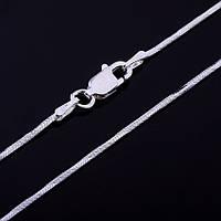 Серебряная цепочка плетение Снейк, 40 см