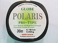Рыболовная леска  0,18мм Globe Polaris  30м