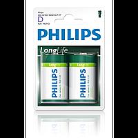 Philips longlife r20-l2b (2 bl) (r20l2b/97  )