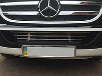 Накладки  Решетка в бампер (нерж) - Mercedes Sprinter (2006+/2013+)