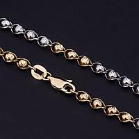 Золотая цепочка, фантазийное плетение, 40 см