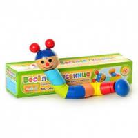 Деревянная игрушка Гусеница  (MD 0405)