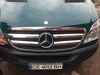 Обводка решетки (2006-2013, нерж) - Mercedes Sprinter (2006+/2013+)