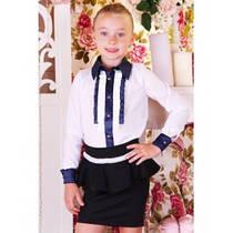 """Блузка школьная для девочки """"Barbarris""""  Украина (В22)"""