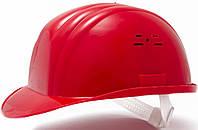 Каска строительно монтажная (цвет красный)