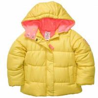 Куртка утепленная девочка желтая Carters (c213724)