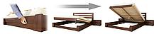 Кровать Селена 120х190 Бук Щит 102 (Эстелла-ТМ), фото 3
