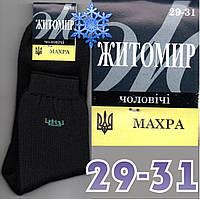Зимние мужские носки с махрой внутри  Житомир Украина 29-31р  НМЗ-116
