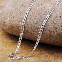 Серебряная цепочка, плетение Ромб, 50 см