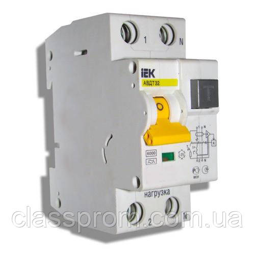 Автоматические выключатели дифференциального тока АВДТ32  B16 10мА IEK