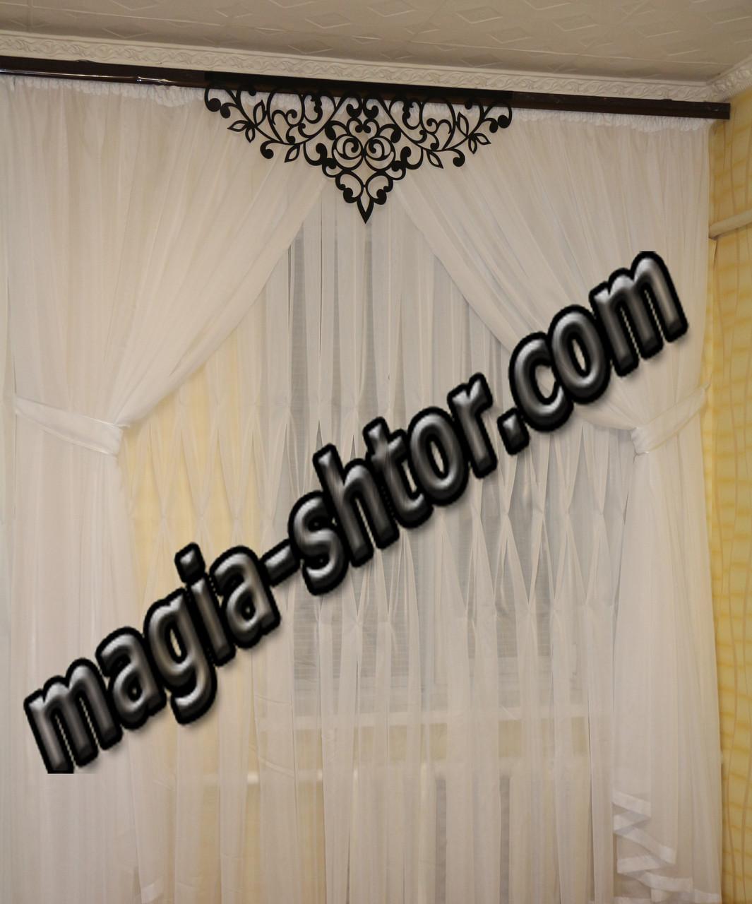 Комплект: ажурный ламбрекен + шторы + тюль