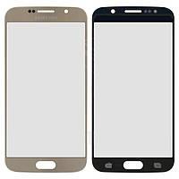 Стекло для Samsung G920F Galaxy S6 золотой