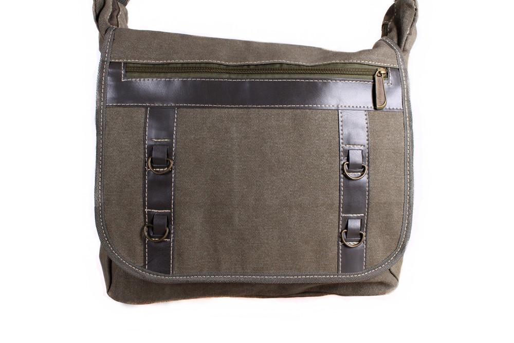2acb0dbe6deb Мужская тканевая сумка через плечо цвета хаки, цена 496 грн., купить ...