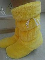 Однотонные детские махровые сапожки для дома