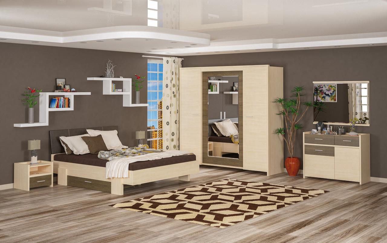Спальня Мебель Сервис Кантри дсп дуб-молочный риверьера-труфель