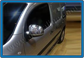 Накладки на зеркала (2 шт, нерж) - Mercedes Citan (2013+) хром. пластик