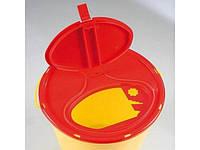 Одноразовий круглий контейнер для утилізації DISPO жовто/червоний  0,5л об'ем