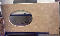 Каменная столешница в ванную комнату из искусственного мрамора 1500х600 (мм)