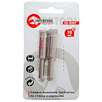 Сверло алмазное трубчатое по стеклу и керамике 10 мм INTERTOOL SD-0347