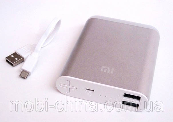 Универсальная батарея - Xiaomi power bank 9800 mAh с фонариком, фото 2
