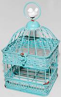 Декоративная клетка с птичкой 26 см