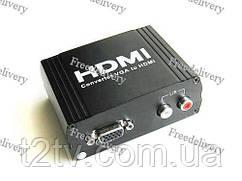 VGA - HDMI TV конвертер видео, RCA аудио, 1080P HD