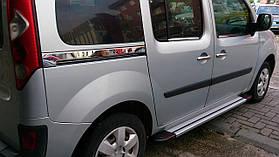 накладка- молдинг сдвижной двери (2 шт, нерж) - Mercedes Citan (2013+)