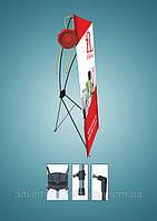Банерный мобильный стенд Х баннер 80х180см Премиум