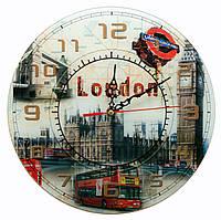 Часы настенные стеклянные Лондон