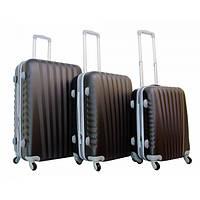 Дорожный пластиковый чемодан 888 (3 в 1) Gravitt