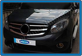 Накладки на решетку (5 шт, нерж) - Mercedes Citan (2013+)