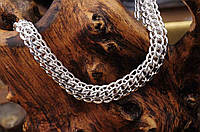 Серебряная цепочка, плетение Питон, 60 см