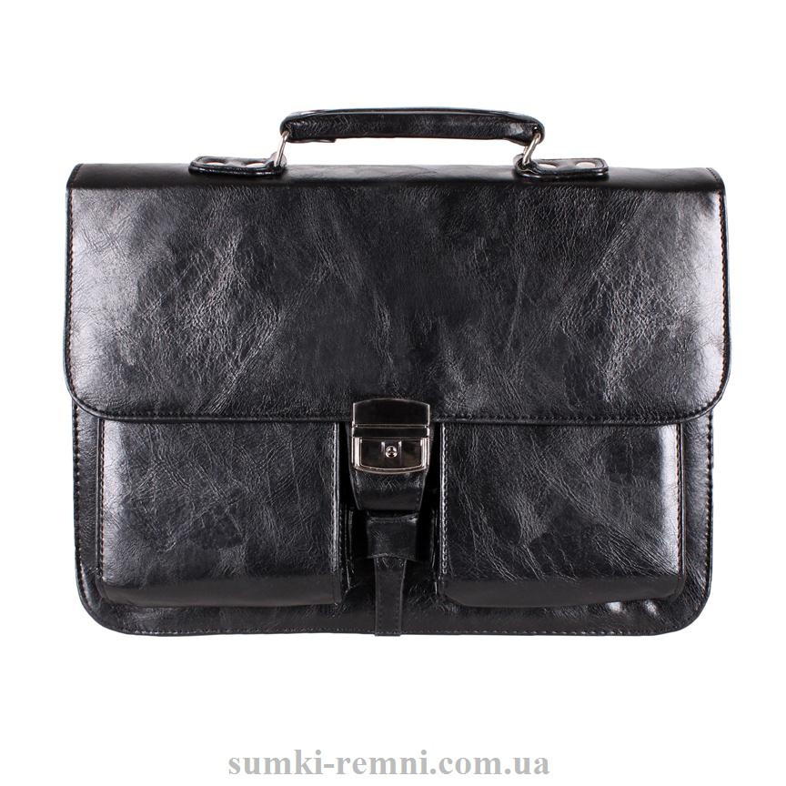 Черный мужской портфель делового стиля