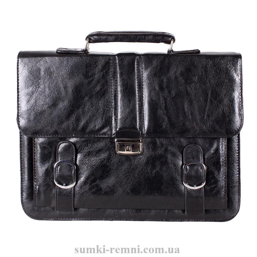 Мужской портфель из искусственной кожи 302988A черный