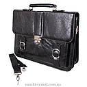 Мужской портфель из искусственной кожи 302988A черный, фото 3