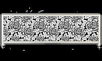 Экран под ванну «АРТ», Черная Роза, 140см.