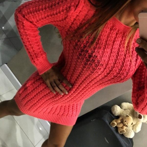 Вязаное платье туника Анабель р 50,52,54