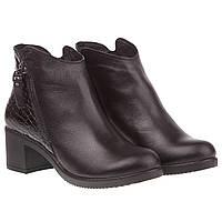 Женские ботильоны Selesta (стильное сочетание кожи и лака, модные, практичные, на удобном каблуке)