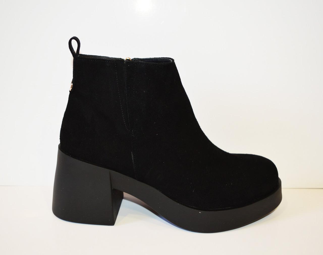 Черные женские ботинки El Passo 1895