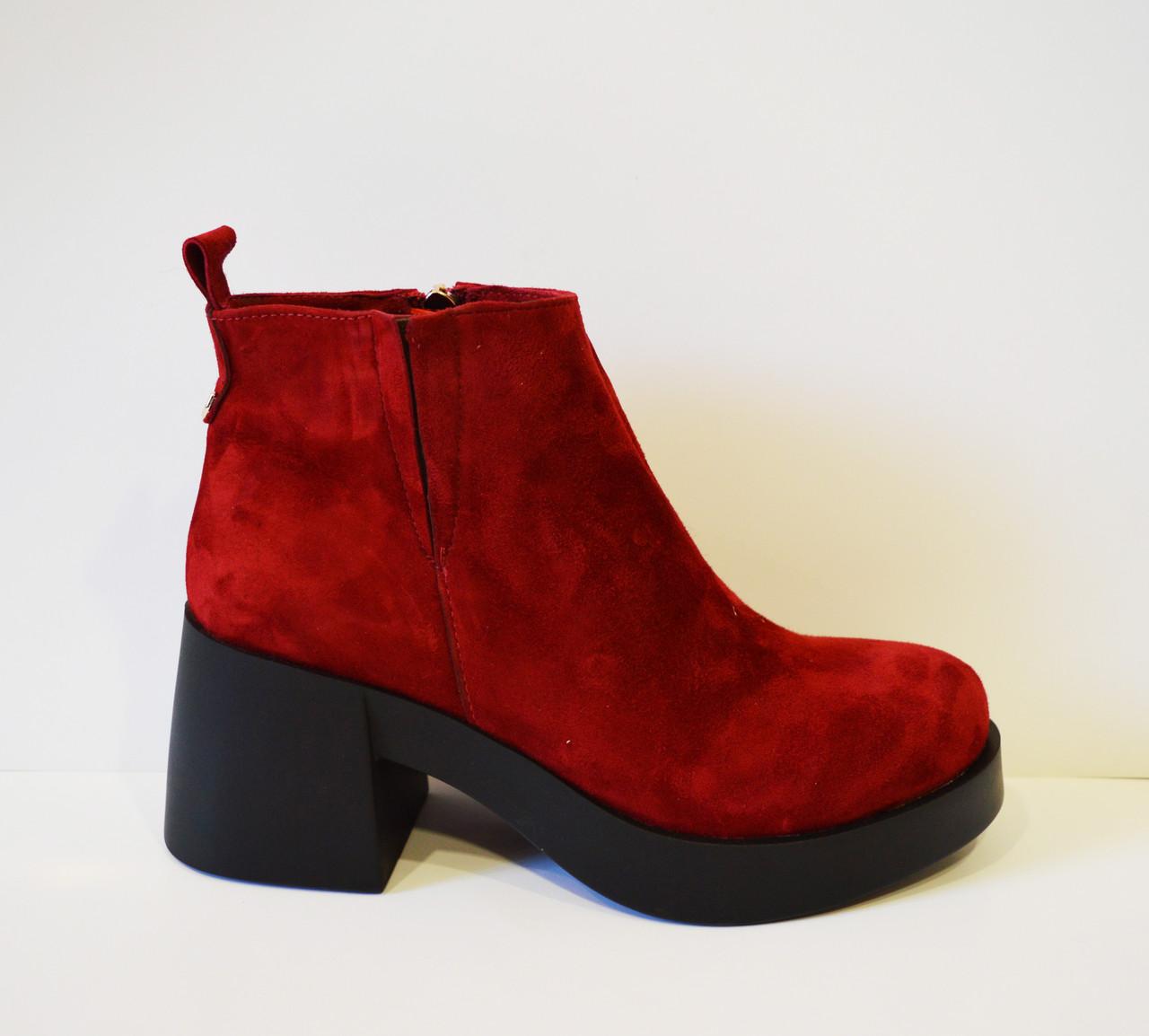 Красные женские ботинки El Passo 1895
