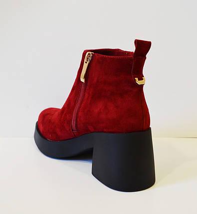 Красные женские ботинки El Passo 1895, фото 2