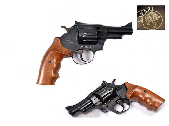 Револьвер Safari РФ 431 орех под патрон Флобера. Револьвер украинского производства Латэк. Револьвер Сафари, фото 2
