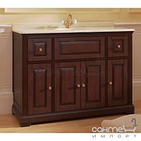 Мебель для ванных комнат и зеркала Marsan Тумба напольная с мраморной столешницей и раковиной из литого камня Marsan Desiree 1200 венге