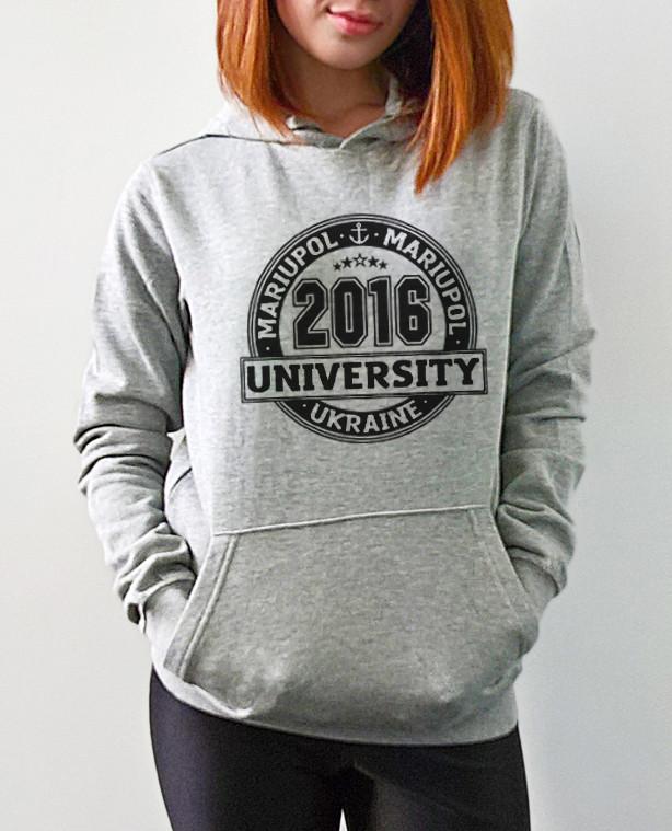 """Женская толстовка """"University Mariupol"""""""